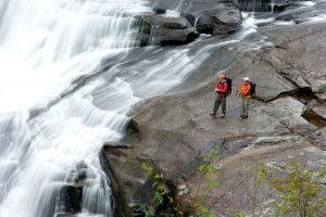 Hikers at Falls, photo by John Laptad