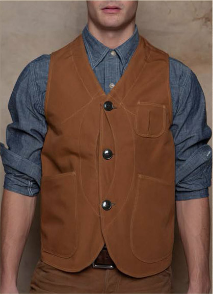 Rising Sun Canvas Vest