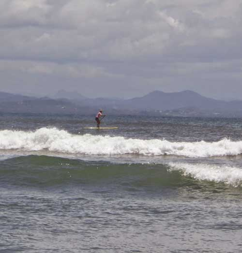 Paddle-boarder on the ocean
