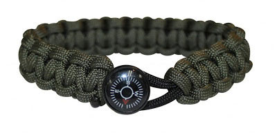 Bison Compass Button Buckle Paracord Bracelet