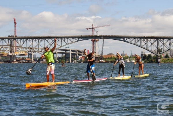 Paddle Boarders on the Willamette River