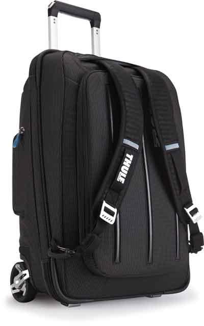 Thule Crossover showing backpack straps