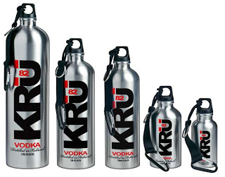 KRU82 Stainless Water Bottle with Vodka